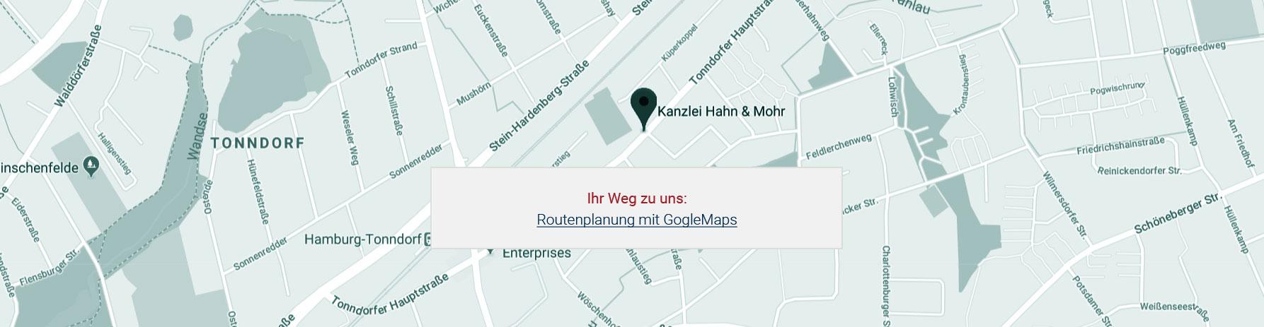 Anfahrt zum Steuerberater HahnMohr Hamburg Tonndorf